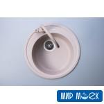 Гранитная круглая кухонная мойка Fabiano ARC 51 Beige