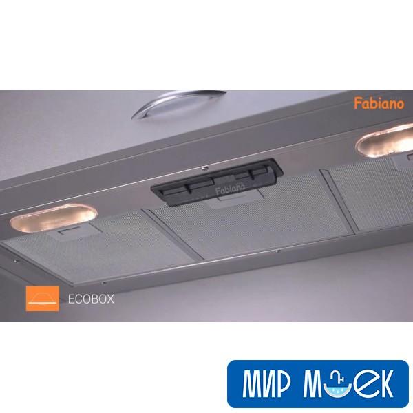Полностью встраиваемая вытяжка FabianoSteel Ecobox 90 Inox