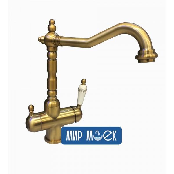 Смеситель на две воды Fabiano FKM-31.8 Brass-Antique