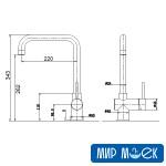 Смеситель для кухни Fabiano FKM-32S/Steel Inox