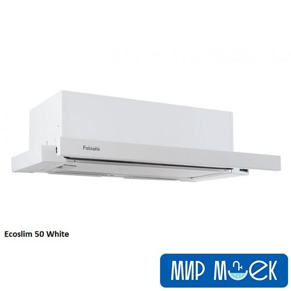 Вытяжка FabianoSteel Ecoslim 50 White